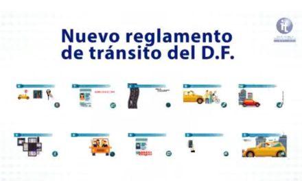 Nuevo Reglamento de Tránsito del D F