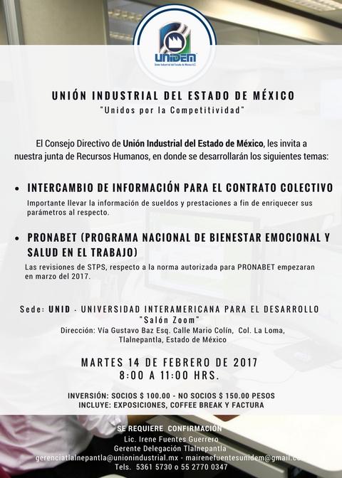 JUNTA DE TRABAJO EN EL ÁREA DE RECURSOS HUMANOS @ UNID - Universidad Interamericana para el Desarrollo - Salón Zoom