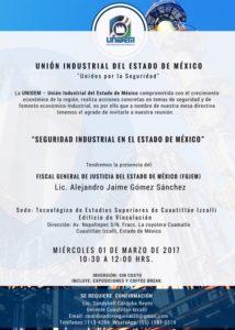 SEGURIDAD INDUSTRIAL EN EL ESTADO DE MÉXICO @ Tecnológico de Estudios Superiores de Cuautitlán Izcalli - Edificio de Vinculación