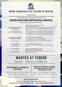 SESIÓN DESAYUNO EMPRESARIAL MENSUAL @ Restaurante La Mansión Ecatepec
