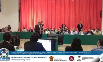 Reunión de UNIDEM con el Maestro Alejandro Gómez Sánchez quien es Fiscal General de Justicia del Edomex