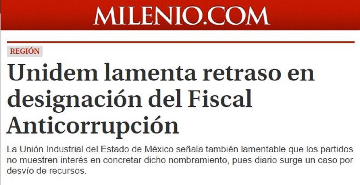UNIDEM lamenta retraso en designación del Fiscal Anticorrupción
