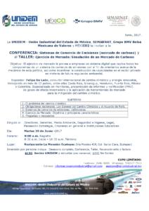 CONFERENCIA - SISTEMA DE COMERCIO DE EMISIONES (Mercado de Carbono) @ RESTAURANTELA MANSIÓN (ECATEPEC)