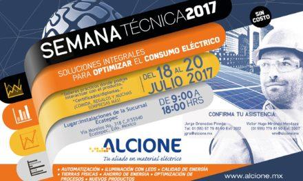 ALCIONE: SEMANA TÉCNICA 2017 – Soluciones integrales para optimizar el consumo eléctrico (Ecatepec)