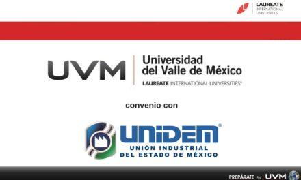 Convenio de BECA DE DESCUENTO celebrado entre UNIDEM y UVM (Universidad del Valle de México)