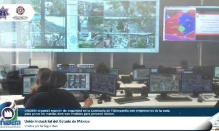 Reunión de Seguridad en la Comisaría de Tlalnepantla con empresarios de la zona organizado por la UNIDEM.