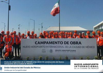 Visita de integrantes de la UNIDEM a las obras de construcción del Nuevo Aeropuerto MX.