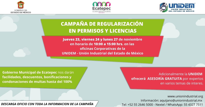 Campana de regularizacion en permisos y licencias