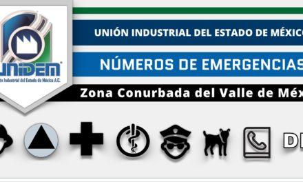 UNIDEM – Números de Emergencias – Zona Conurbada del Valle de México