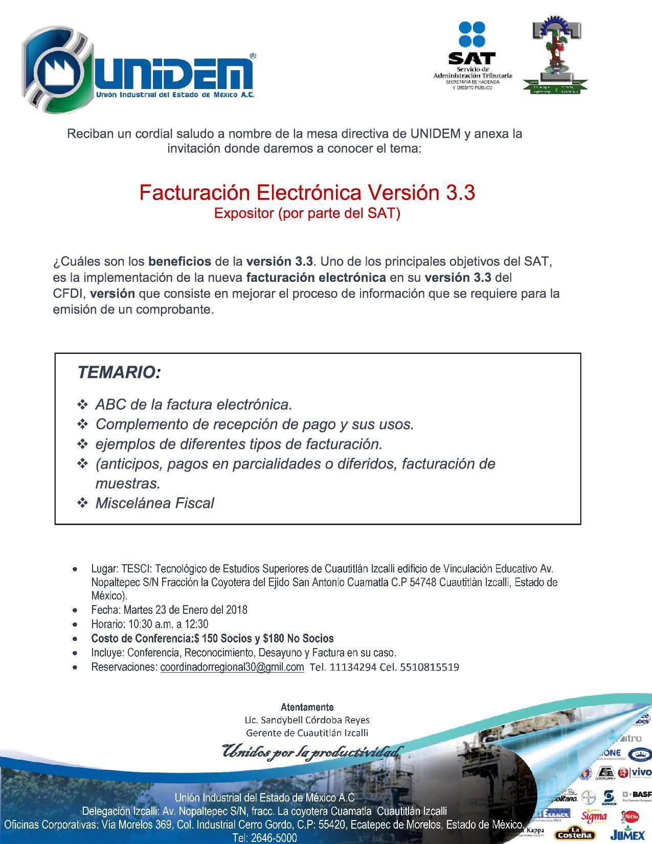 UNIDEM - Conferencia de Facturacion Electronica 3 3 Cuautitlan Izcalli