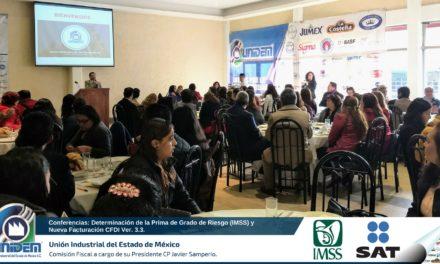 Conferencias: Determinación de la Prima de Grado de Riesgo (IMSS) y Nueva Facturación CFDI Ver. 3.3