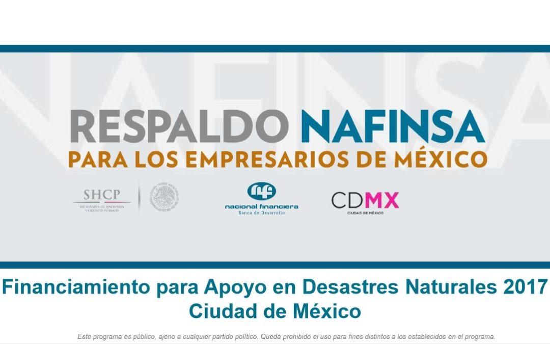 Financiamiento para Apoyo en Desastres Naturales 2017 Ciudad de México