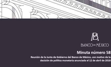 Reunión de la Junta de Gobierno del Banco de México, con motivo de la decisión de política monetaria anunciada el 12 de abril de 2018