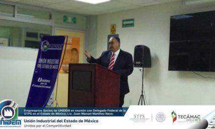 Empresarios Socios de UNIDEM en reunión con Delegado Federal de la STPS en el Estado de México – Lic. Juan Manuel Martínez Nava