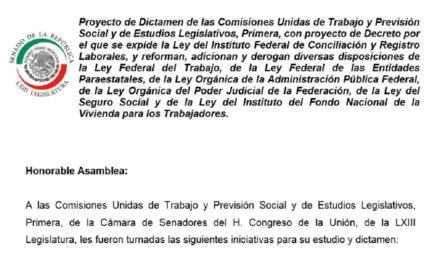 Reforma Constitucional al Sistema de Impartición de Justicia Laboral