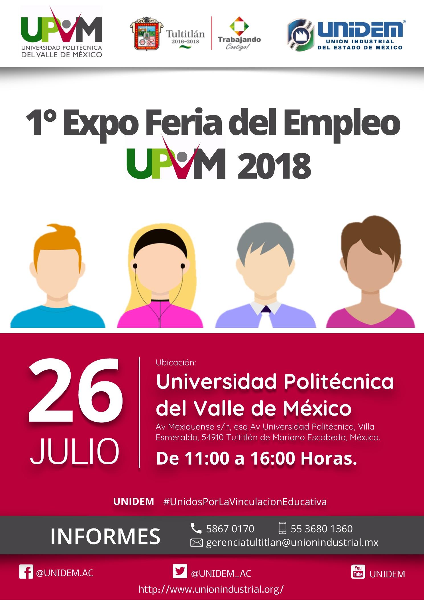 UNIDEM - 1 Expo Feria del Empleo UPVM 2018