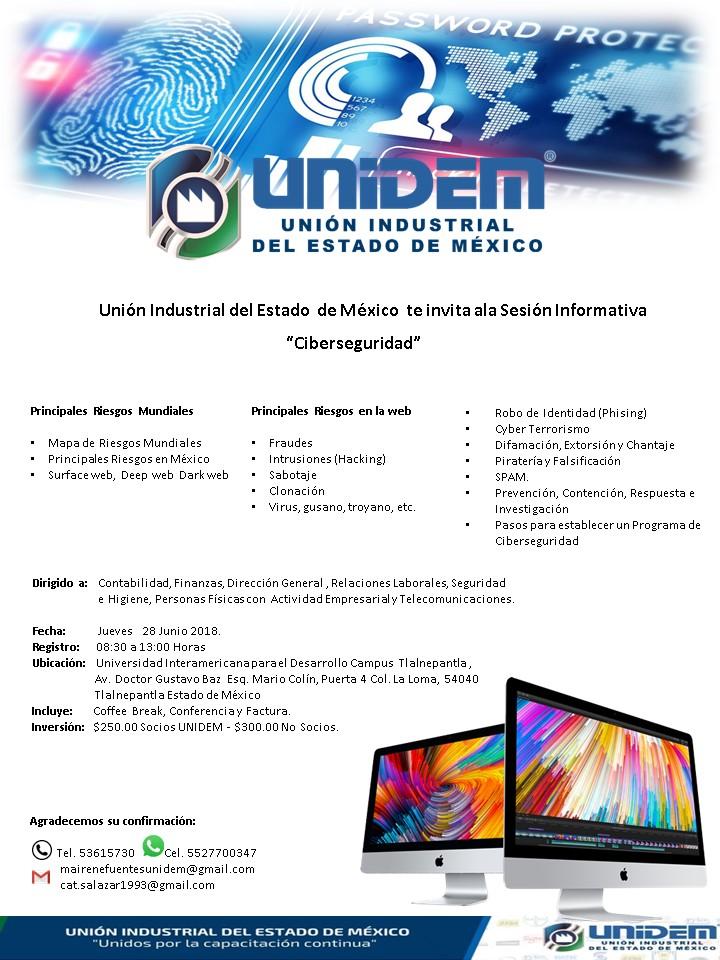 UNIDEM Sede Tlalnepantla - Sesión informativa Ciberseguridad