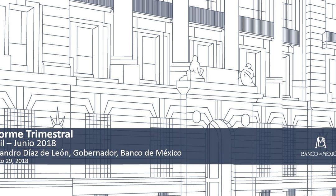 Banco de  México – Informe Trimestral de Inflación para el segundo trimestre de 2018