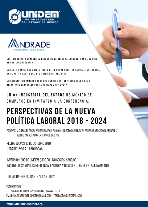 UNIDEM - PESPECTIVAS DE LA NUEVA POLITICA LABORAL