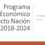 Programa Económico Proyecto Nación 2018-2024