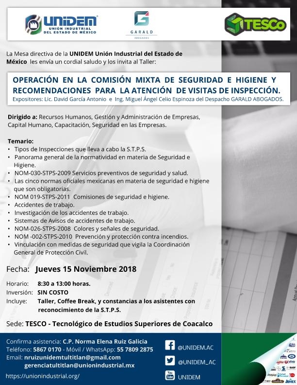 UNIDEM - Operacion en la Comision Mixta de Seguridad e Higiene 100