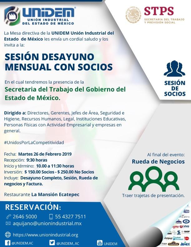 UNIDEM - DESAYUNO MENSUAL DE SOSCIOS FEBRERO Y RUEDAS DE NEGOCIOS OFICIAL 001