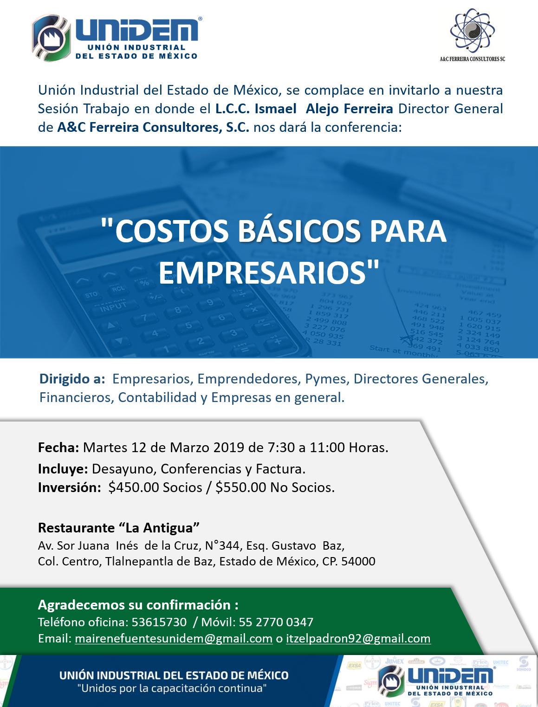 UNIDEM - EVENTO FEBRERO COSTO BASICOS DE EMPRESARIOS1