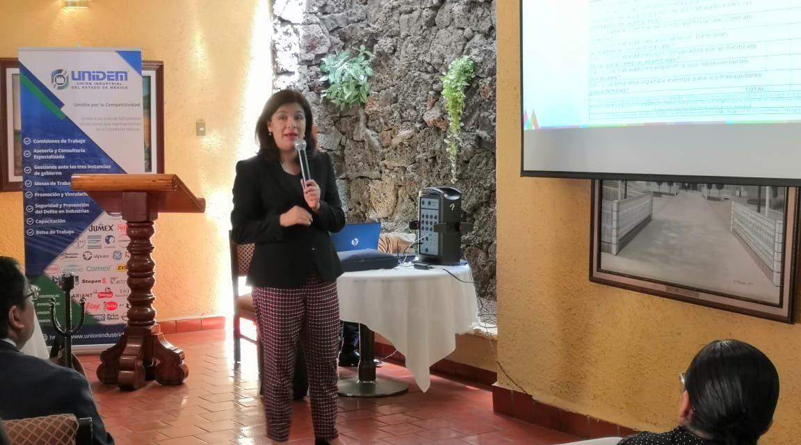 Expone secretaria del trabajo impacto de reforma laboral ante integrantes de UNIDEM.