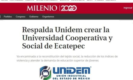 Respalda UNIDEM crear la Universidad Cooperativa y Social de Ecatepec