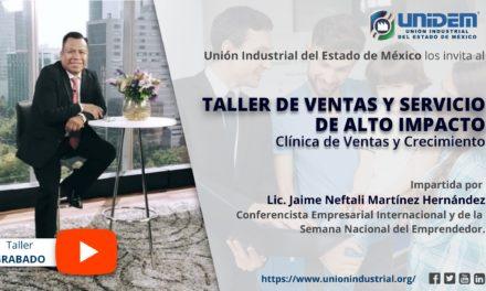 (Evento grabado) – VENTAS Y SERVICIO DE ALTO IMPACTO, Clínica de Ventas y Crecimiento.