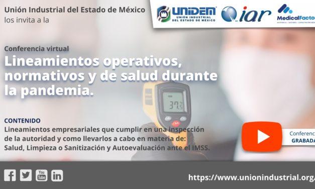 (Evento grabado) Conferencia virtual: Lineamientos operativos, normativos y de salud durante la pandemia.