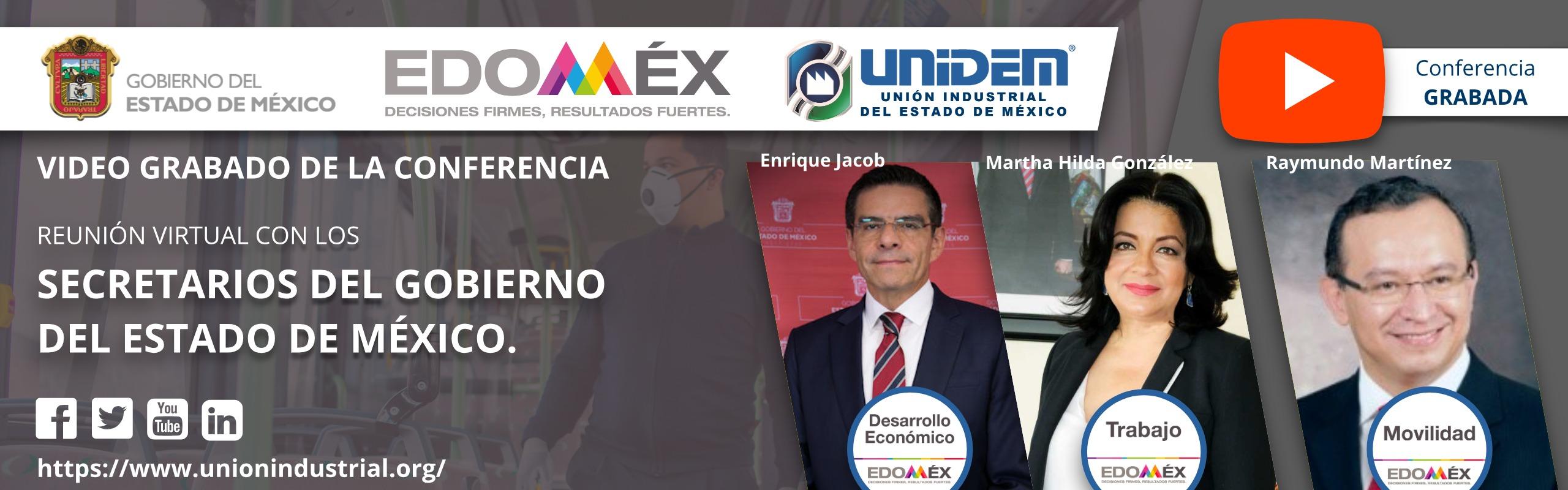2020 06 17 - Reunión Virtual con los secretarios del gobierno del Edo Mex - YouTube Barra