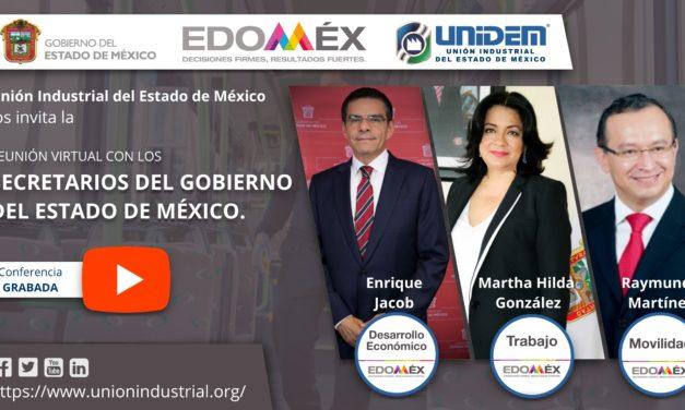 (Evento grabado) Reunión Virtual con los Secretarios del Gobierno del Estado de México.