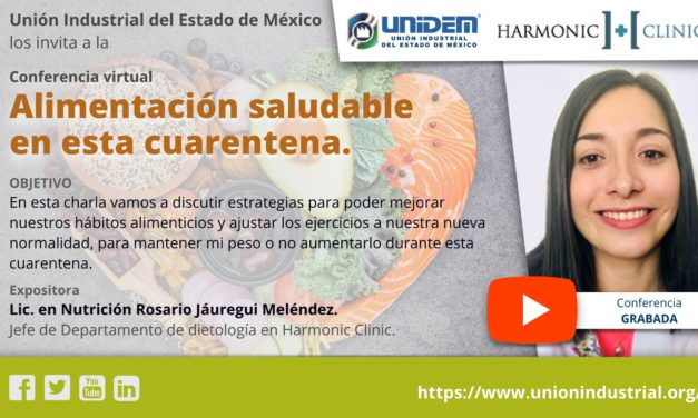 (EVENTO GRABADO) Conferencia virtual: Alimentación saludable en esta cuarentena.