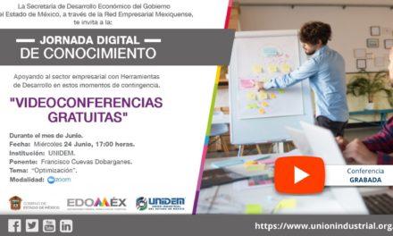 (Evento Grabado) JORNADA DIGITAL DE CONOCIMIENTO – Conferencia virtual: Optimización