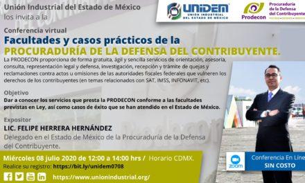 Conferencia Virtual: Facultades y casos prácticos de la Procuraduría de la Defensa del Contribuyente