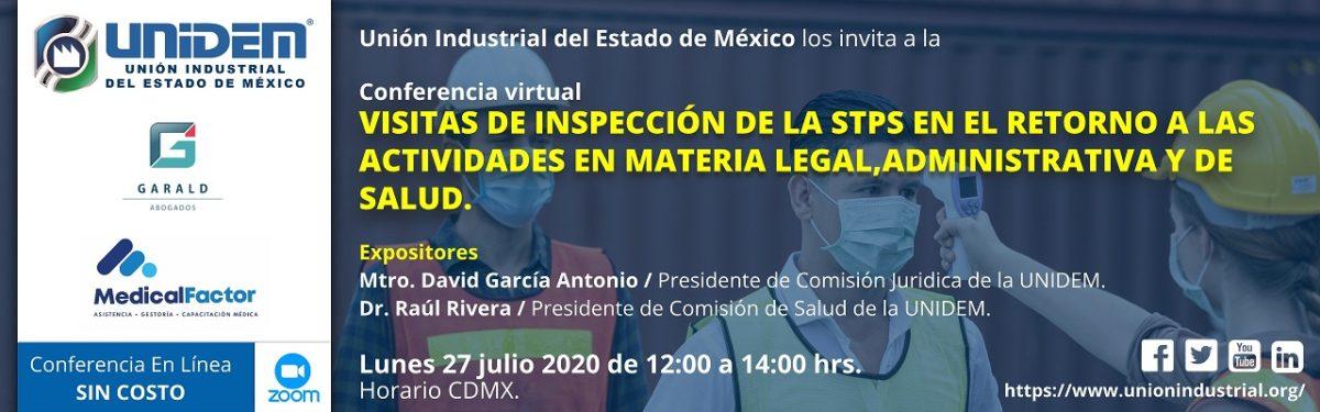 2020 07 27 - VISITAS DE INSPECCIÓN DE LA STPS EN EL RETORNO A LAS ACTIVIDADES - Barra