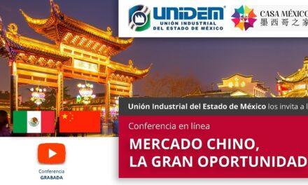 (Evento Grabado) Conferencia en línea: MERCADO CHINO, LA GRAN OPORTUNIDAD.