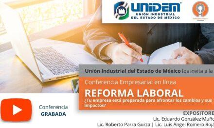(Evento Grabado) Conferencia empresarial en línea: REFORMA LABORAL