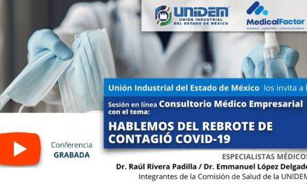 (Evento Grabado) Consultorio Médico Empresarial:  HABLEMOS DEL REBROTE DE CONTAGIÓ COVID-19