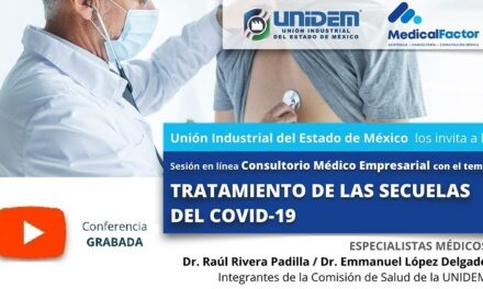 (Evento Grabado) Consultorio Médico Empresarial: TEMA TRATAMIENTO DE LAS SECUELAS DEL COVID-19