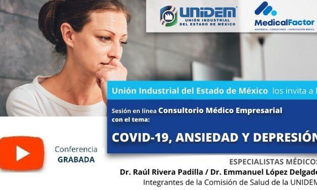 (Evento Grabado) Consultorio Médico Empresarial: COVID-19, ANSIEDAD Y DEPRESIÓN