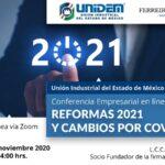Conferencia Empresarial en línea: REFORMAS 2021 Y CAMBIOS POR COVID-19.