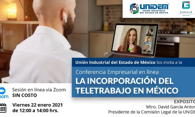 Conferencia en línea: LA INCORPORACIÓN DEL TELETRABAJO EN MÉXICO.