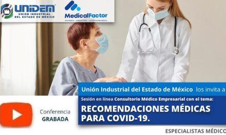 (Evento Grabado) Conferencia Empresarial en línea:  RECOMENDACIONES MÉDICAS PARA COVID-19.