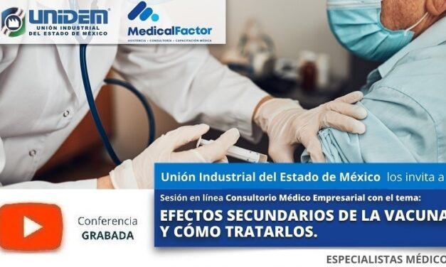 (Evento Grabado) Conferencia Empresarial en línea:  EFECTOS SECUNDARIOS DE LA VACUNA Y CÓMO TRATARLOS.