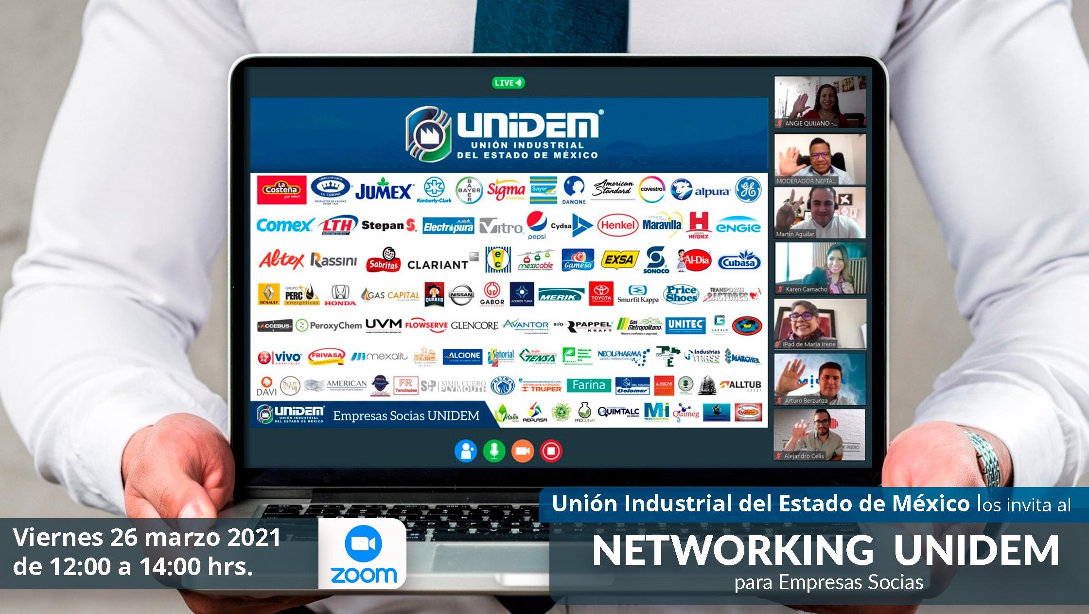 Flyer - 2021 02 26 - Rueda de Negocios para empresas SOCIAS UNIDEM 800 x 450