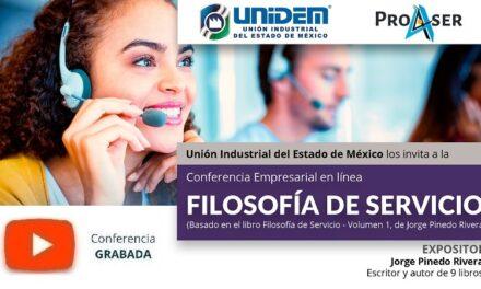 (Evento Grabado) Conferencia Empresarial en línea:  FILOSOFÍA DE SERVICIO (Basado en el libro Filosofía de Servicio – Volumen 1, Jorge Pinedo Rivera)