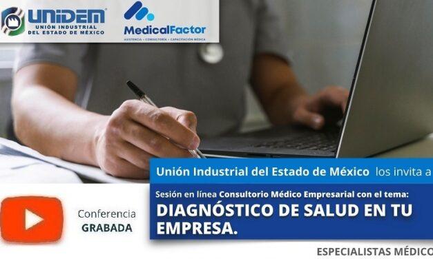 (Evento Grabado) Conferencia Empresarial en línea:  DIAGNÓSTICO DE SALUD EN TU EMPRESA.
