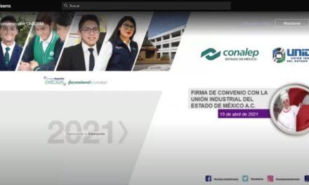 Firma de convenio estatal para sistema dual CONALEP – UNIDEM